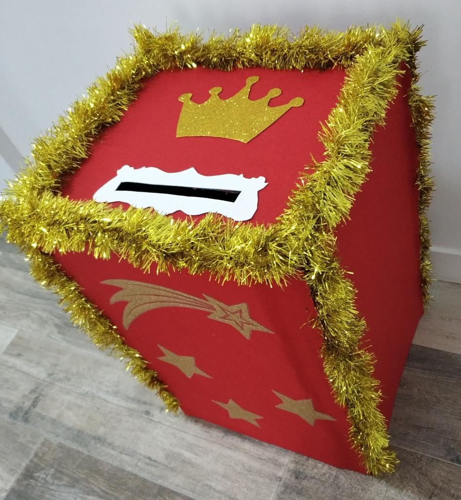 buzón de Navidad DIY